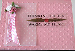 think pink homemade card