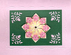 think pink homemade greeting card