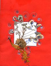 pressed flowers card 1