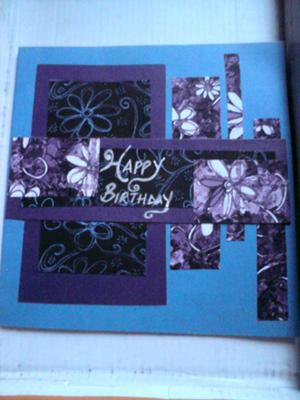 Purple Birthday Card