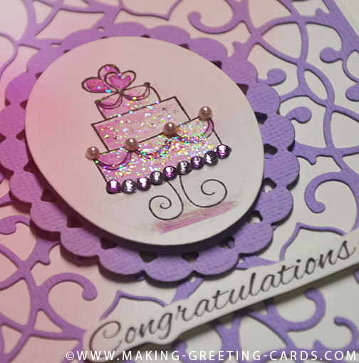 cake wedding card/Purple Wedding Cake