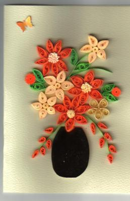 Quilling Technique - A Bouquet of Flowers