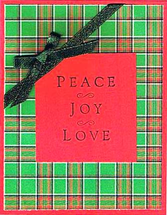 Peace Joy Love Christmas Card