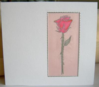 Rose on Silk Card