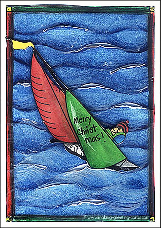 sailboat christmas card