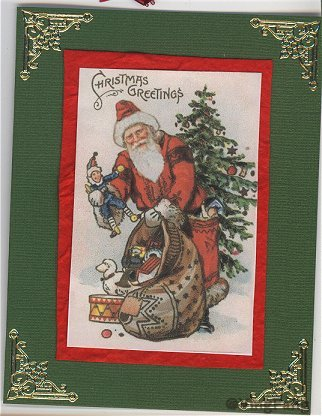 santas claus christmas greeting card