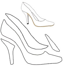 Find card making ideas where to find card ideas for High heel template for cards