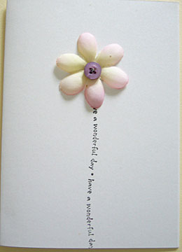 Handmade birthday cards silk flower handmade card bookmarktalkfo Choice Image
