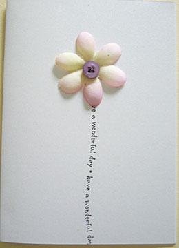 silk flower handmade card