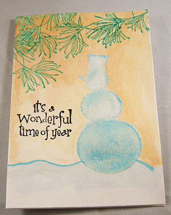 It's a wonderful time of year. Snowman card.