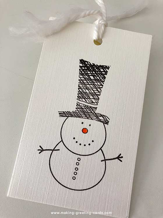 Snowman Christmas Cards Ideas.Handmade Christmas Gift Card