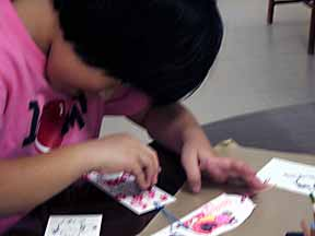 rubber stamping with children