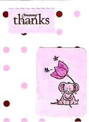 paper thank you card