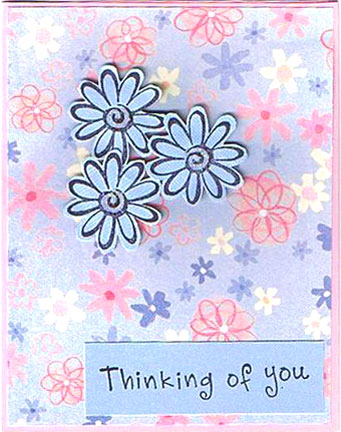 Handmade Thinking Of You Cards By Valerie Smith