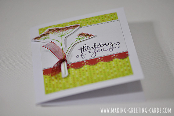 friendship thinking of you greeting card/Handmade Card for a Friend