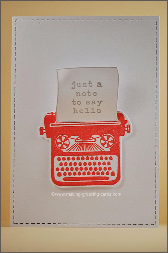 make greeting card/Red Typewriter Greeting Card
