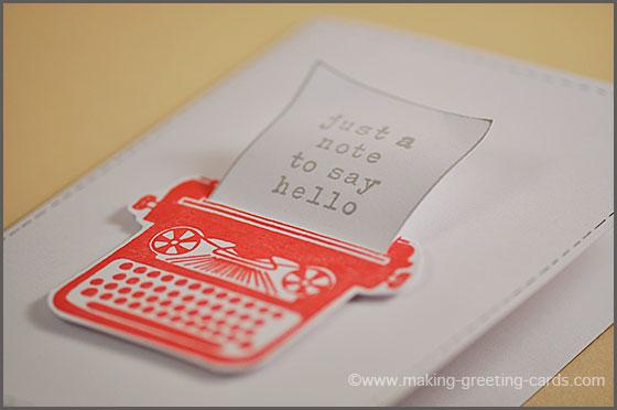 typewriter note card/Make Greeting Card