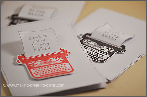 Make a greeting card with a 3d effect make greeting cardstypewriter note cards m4hsunfo Gallery