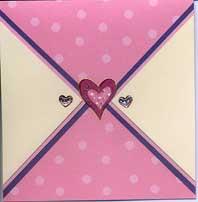 Polka and heart design card
