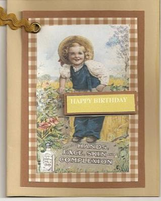 Handmade Vintage Ad Birthday Card