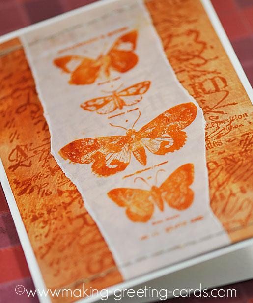 vintage butterfly card/Vintage Butterfly Card 1