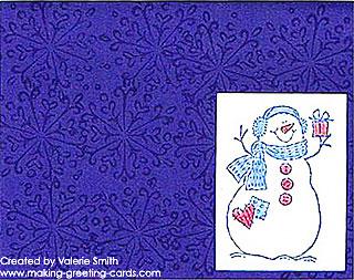 Valerie's Snowman Card