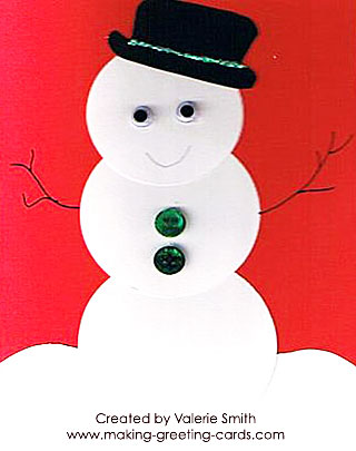 Friendly Snowman Card