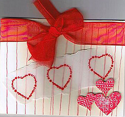 Handmade Happy Valentine's Day Card