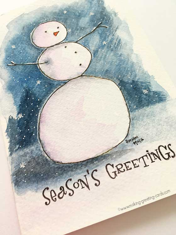 Watercolor Christmas Cards , Unique Christmas