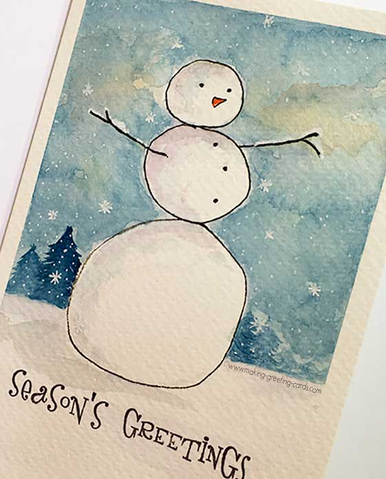 snowman card with border