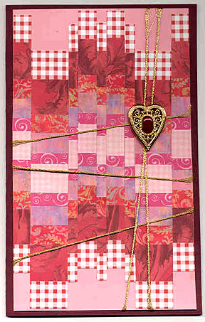 weaving technique card/Barbara Phelps' Weaved Card