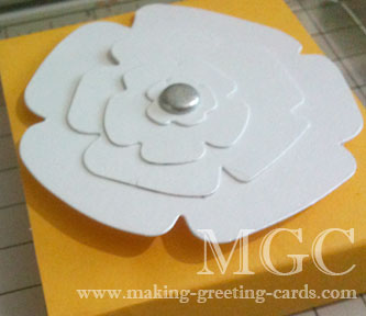 cardmaking supplies/Die Cut Flower
