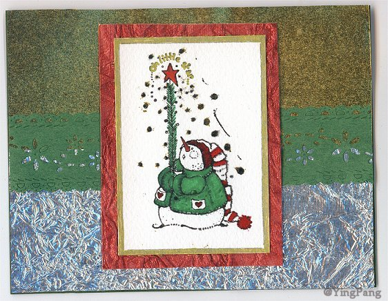 merry christmas card by ying pang