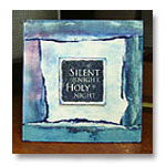 blue silent night holy night card