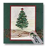traditional christmas tree card