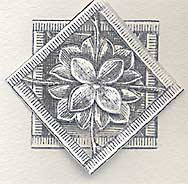 another card made with rubber stamps with the same technique as above