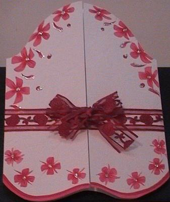 Pink & Red Heart Happy Birthday Card