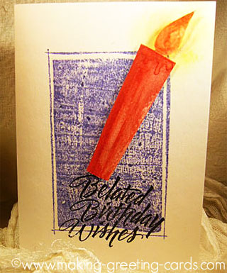Belated Birthday Card - A Lighted Candle