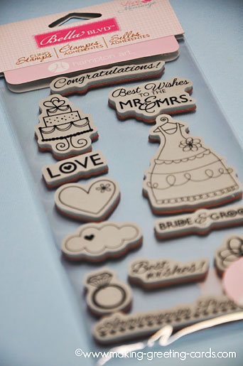 wedding rubber stamps/Bella Blvd Stamps