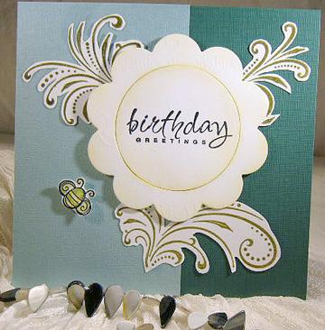 birthday flower card