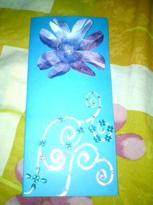 Homemade card with beads