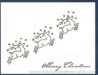 3 reindeer christmas card for business use