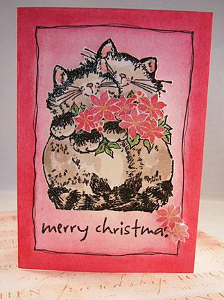 Cat Christmas Card