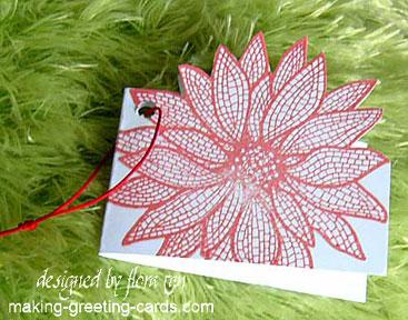 Poinsettia Design Gift Card