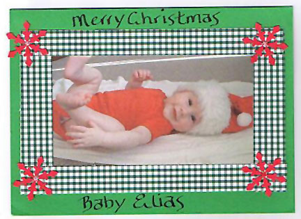 Baby Elias Christmas Photo Card