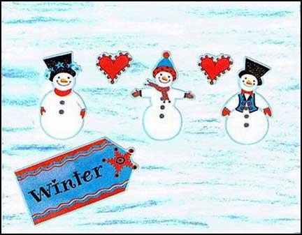 snowman christmas postcards