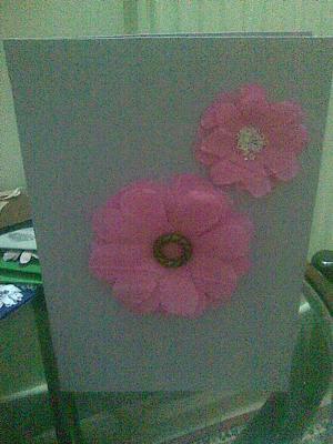 Crepe Paper Flowers Card