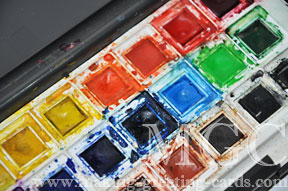 card making supplies/Dale Rowney Watercolor Palette