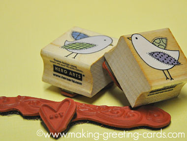 hero arts stamps decorative birds b4749 b4750/Hero Arts Decorative Birds Stamps