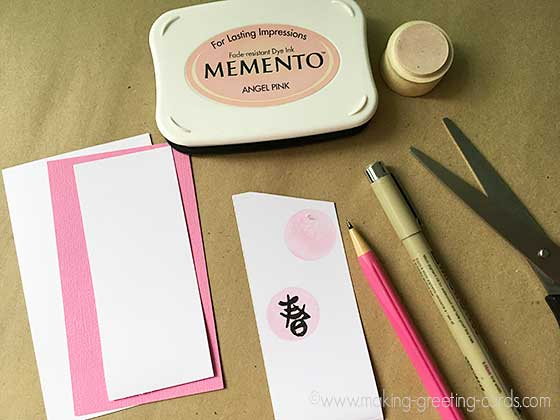 card making supplies for tag